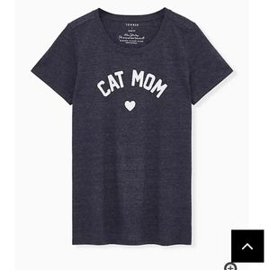 🆕CAT MOM SLIM FIT CREW TEE - TRIBLEND JERSEY NAVY